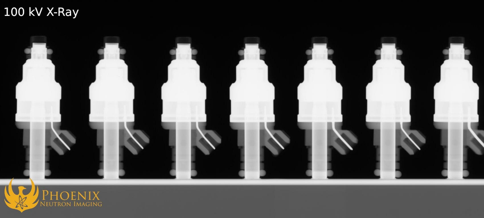 100kV X-Ray Image: Fuel Injectors