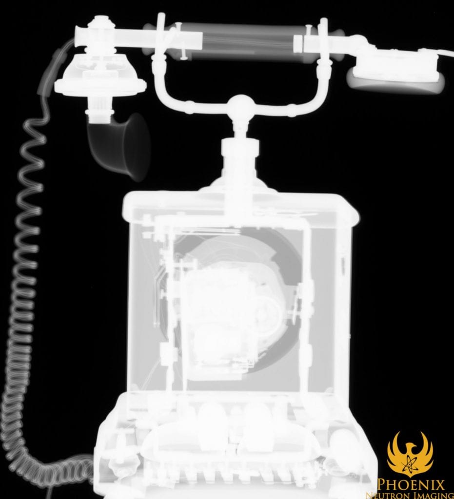X-Ray Image of a Rotary Phone