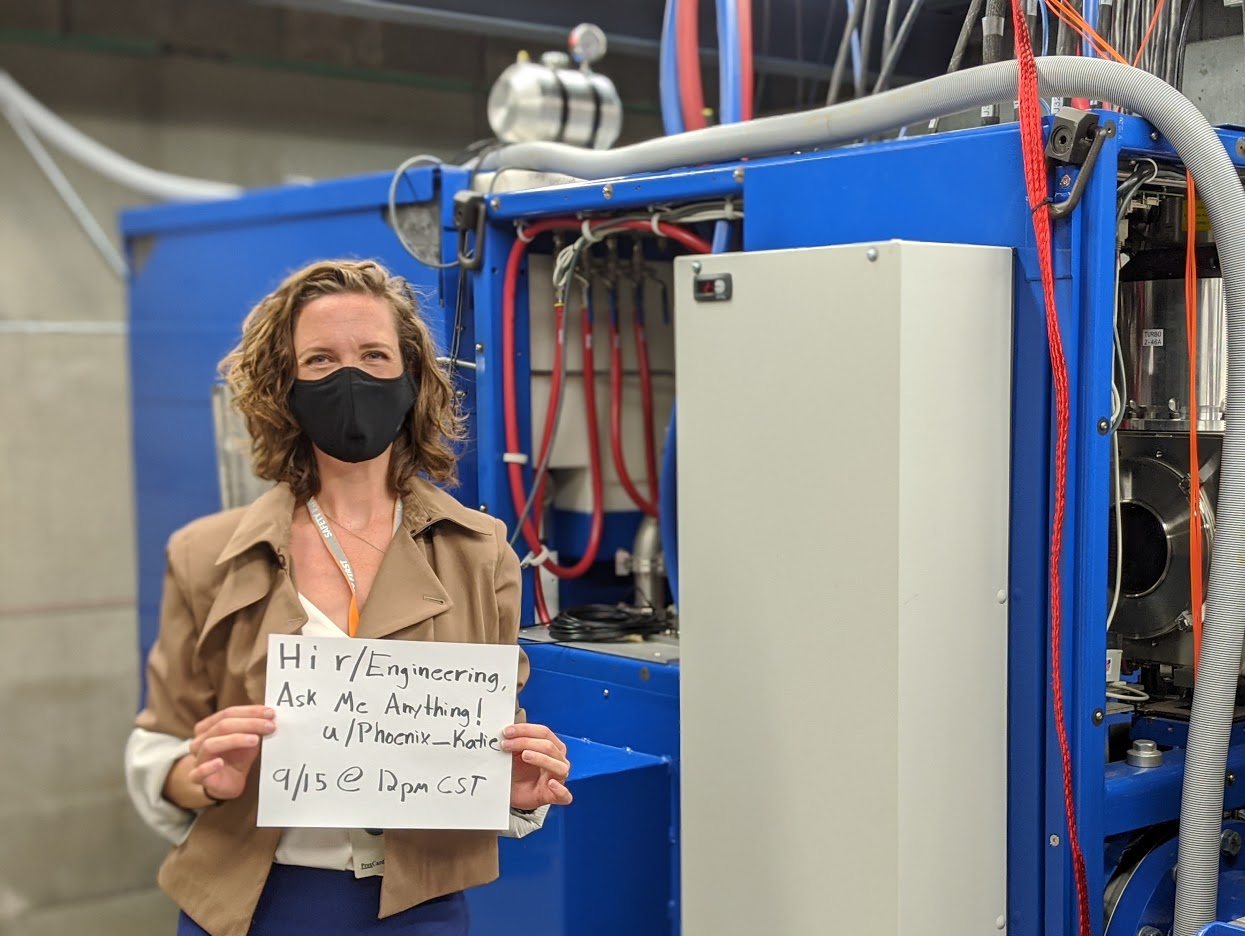 Director of Marketing and Communication Katie Rittenhouse posing for the r/Engineering Reddit AMA