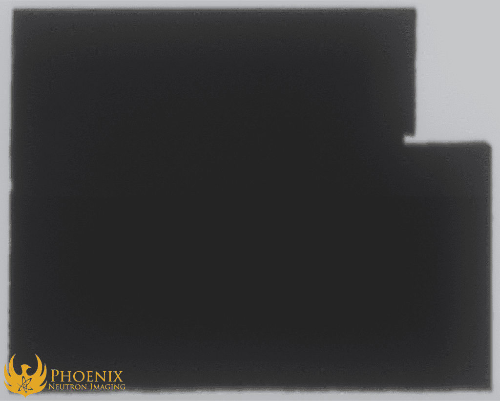 X-ray Image: boron welding flux on copper plate